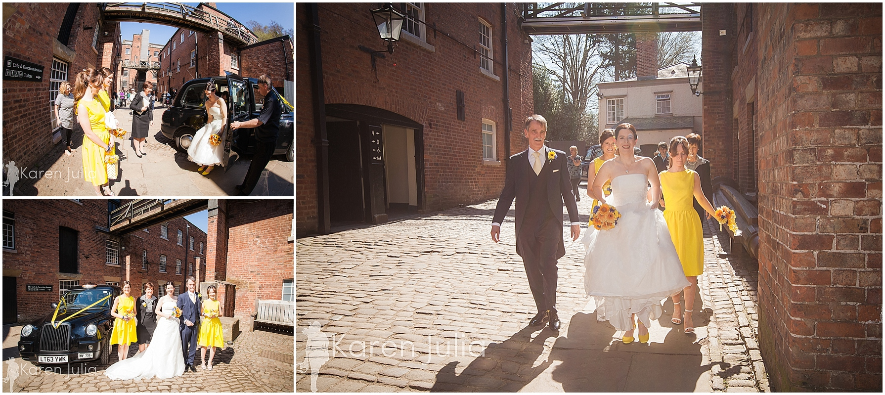 bride arrival quarry bank mill