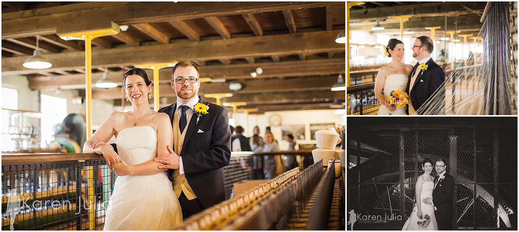 Quarry Bank Mill wedding portraits