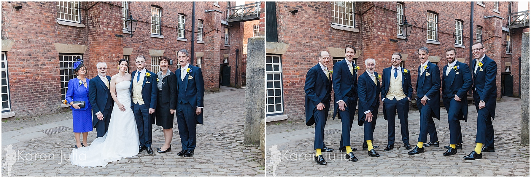 Quarry Bank Mill wedding group photos