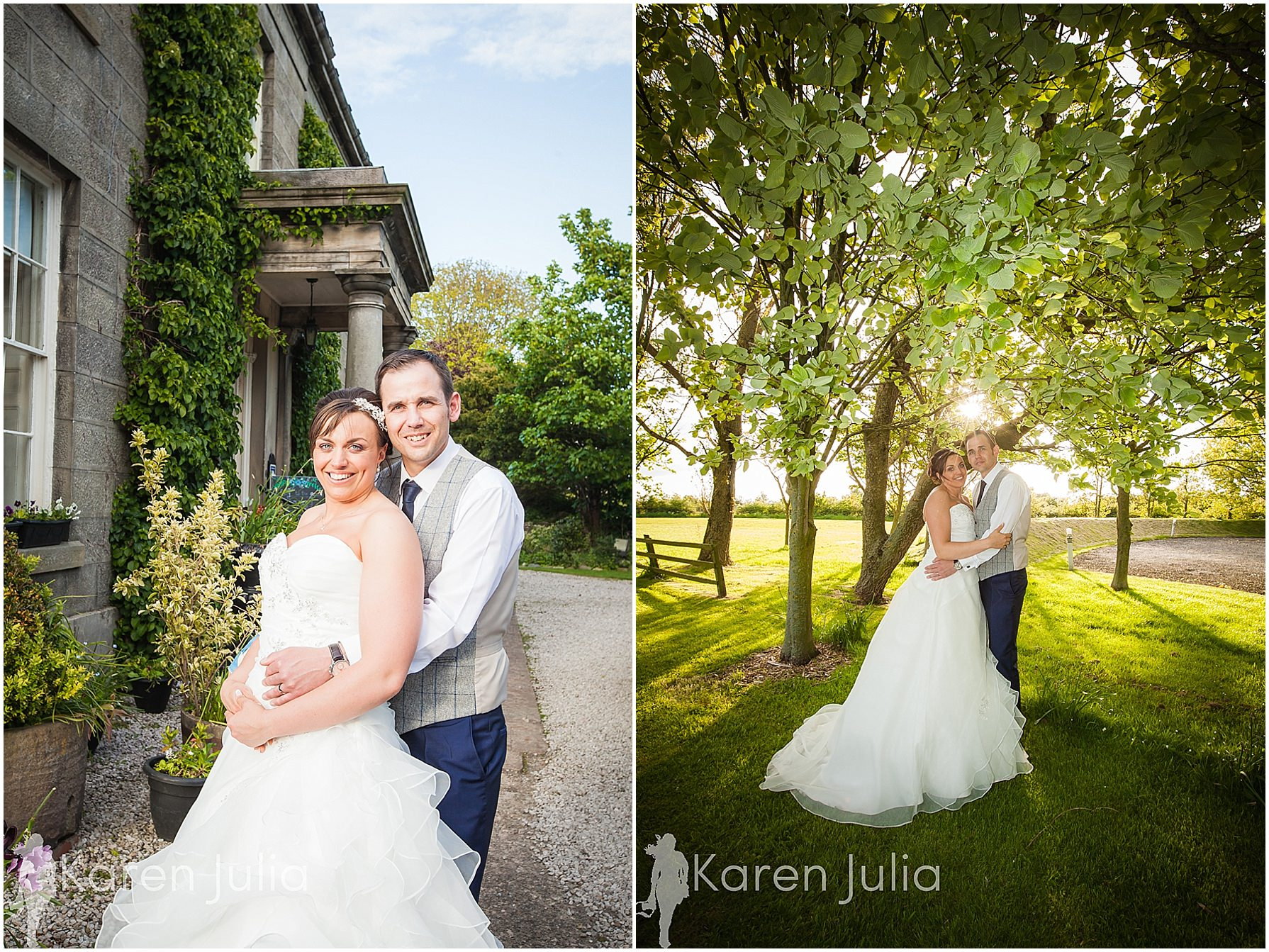 bride & groom portraits at spring house hotel
