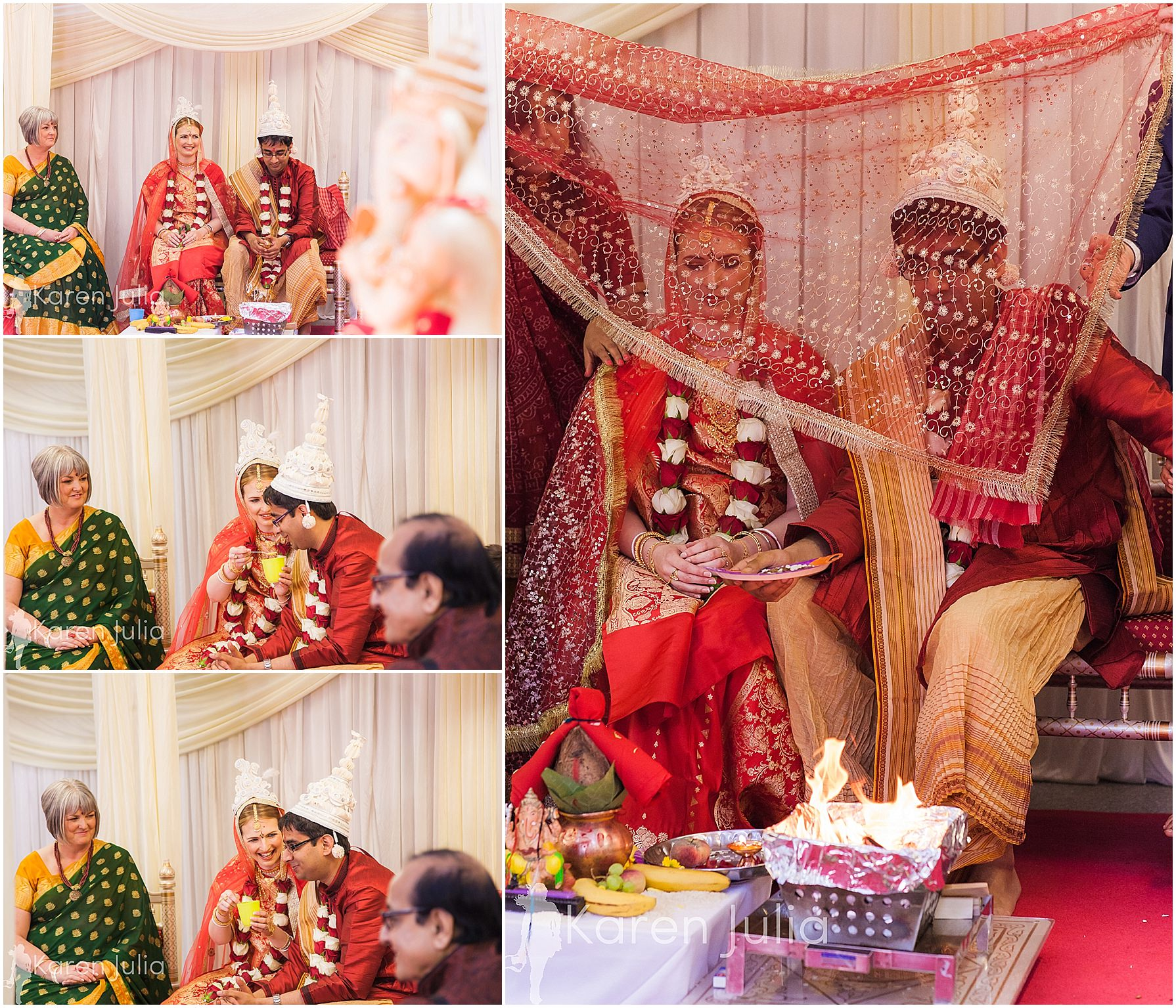 wedding ceremony at Gita Bhavan hindu temple