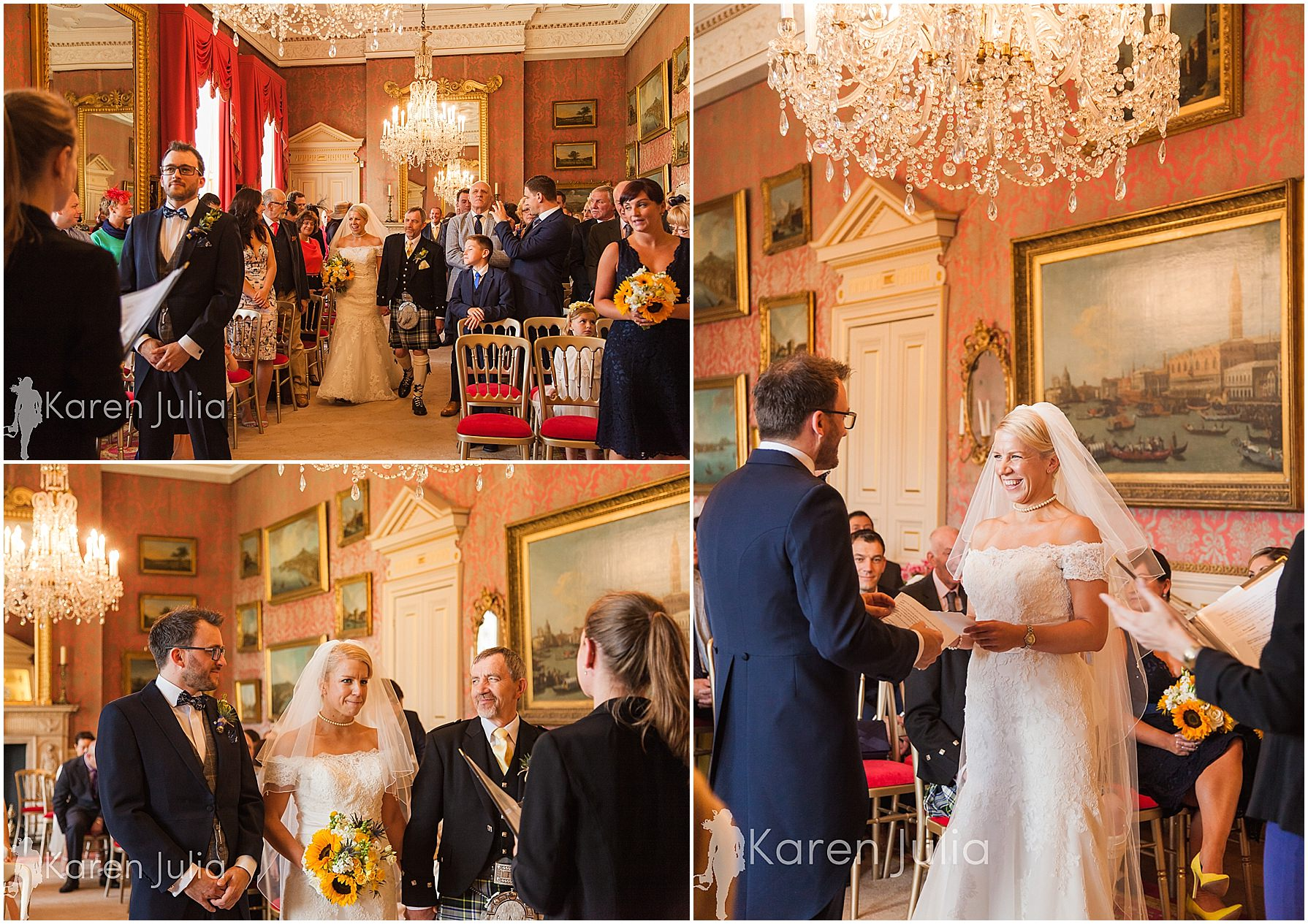 wedding ceremony capesthorne hall