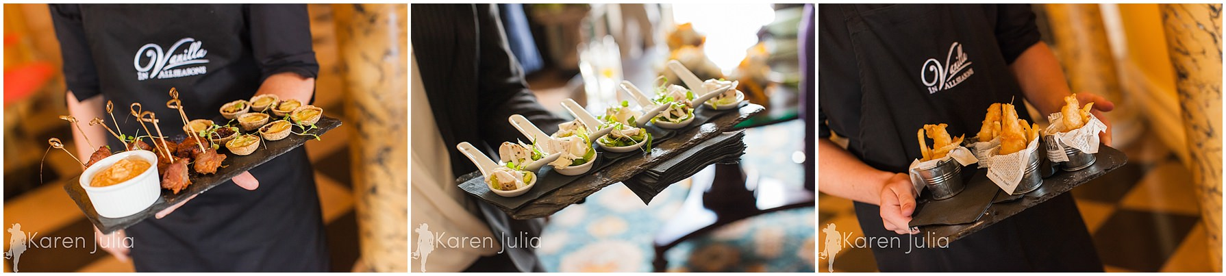 canapes at capesthorne hall