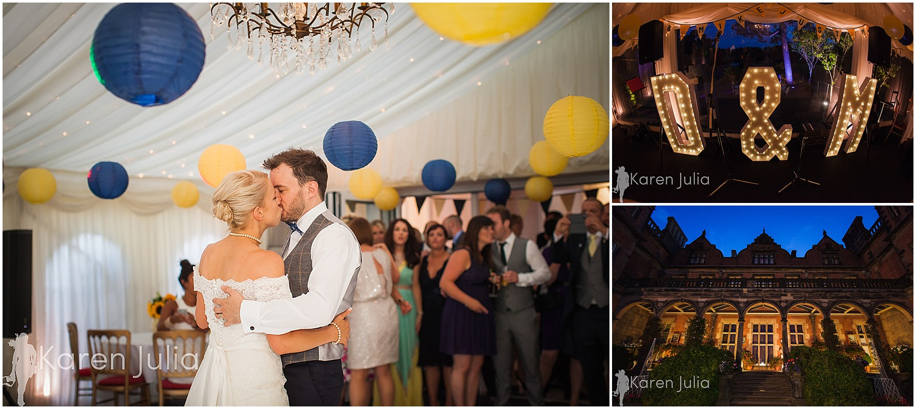 bride & groom first dance capesthorne hall