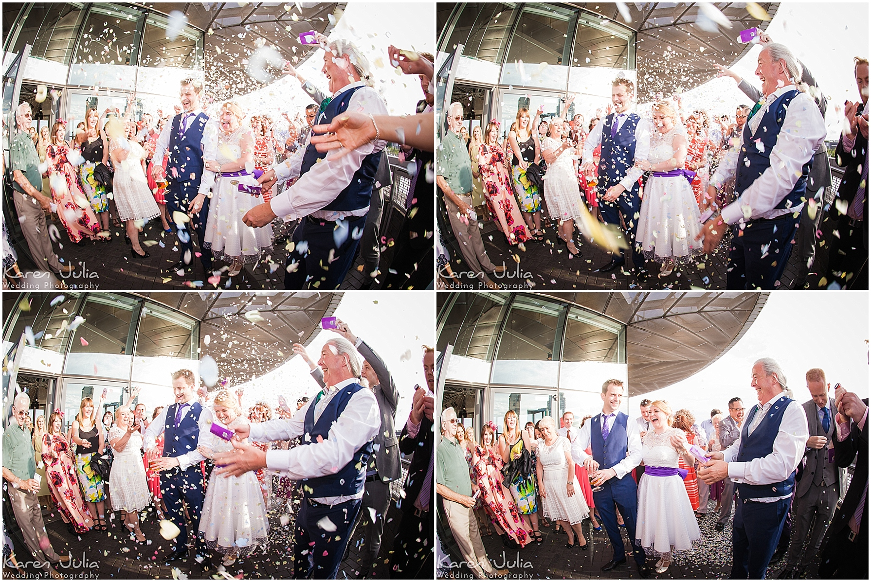lowry theatre wedding confetti photo