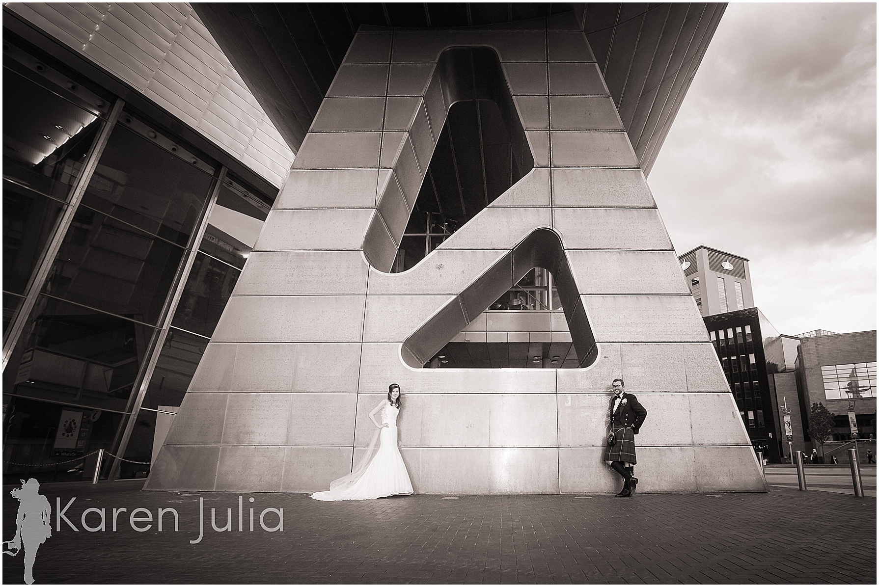 Wedding portrait lowry theatre