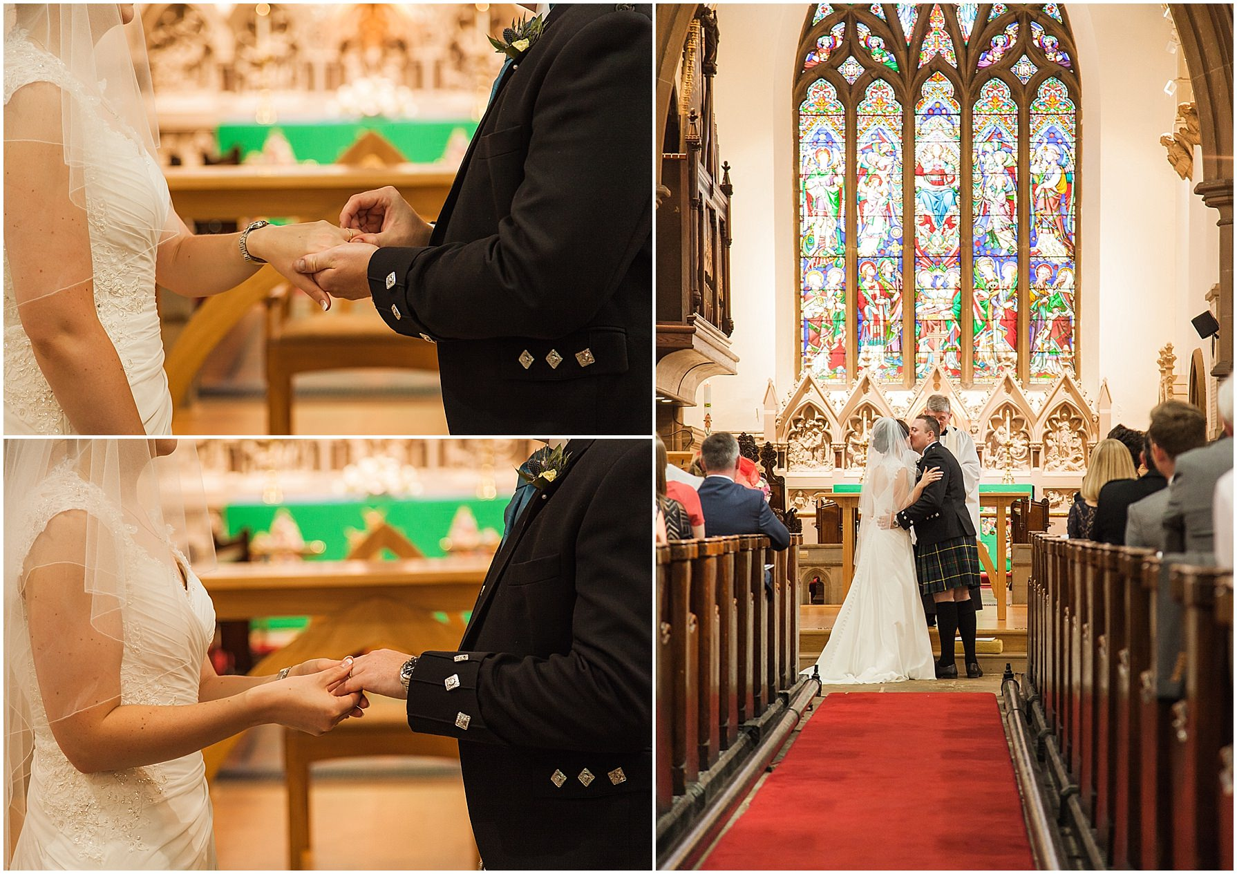 wedding ceremony St Mary's church Lymm