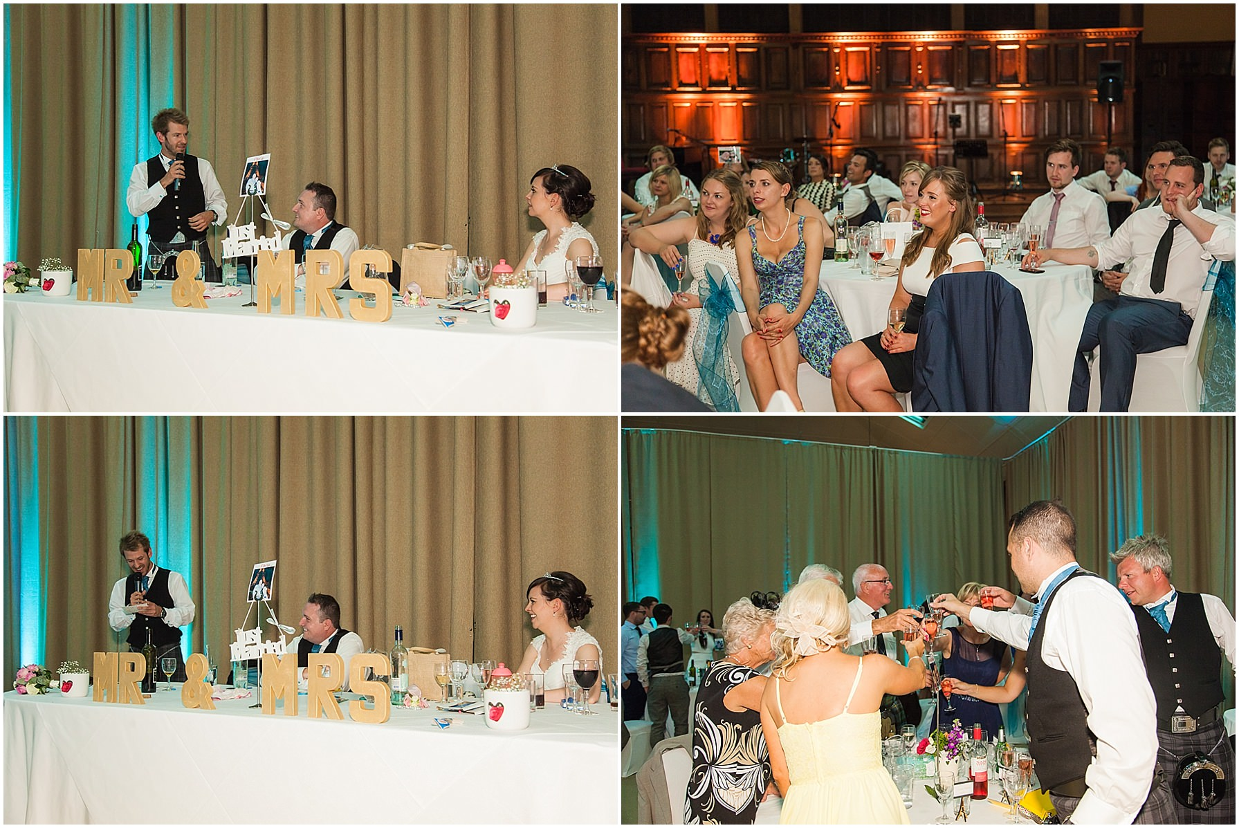 wedding breakfast tatton hall wedding photography