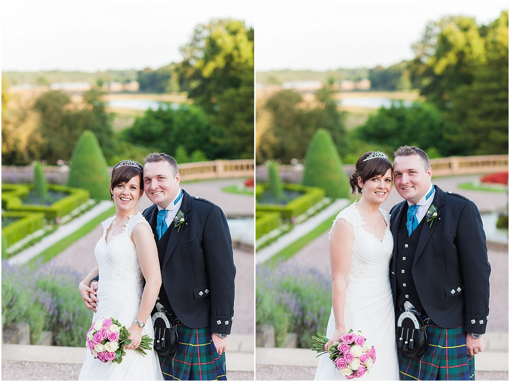 bride and groom portraits Tatton Hall Wedding Photography