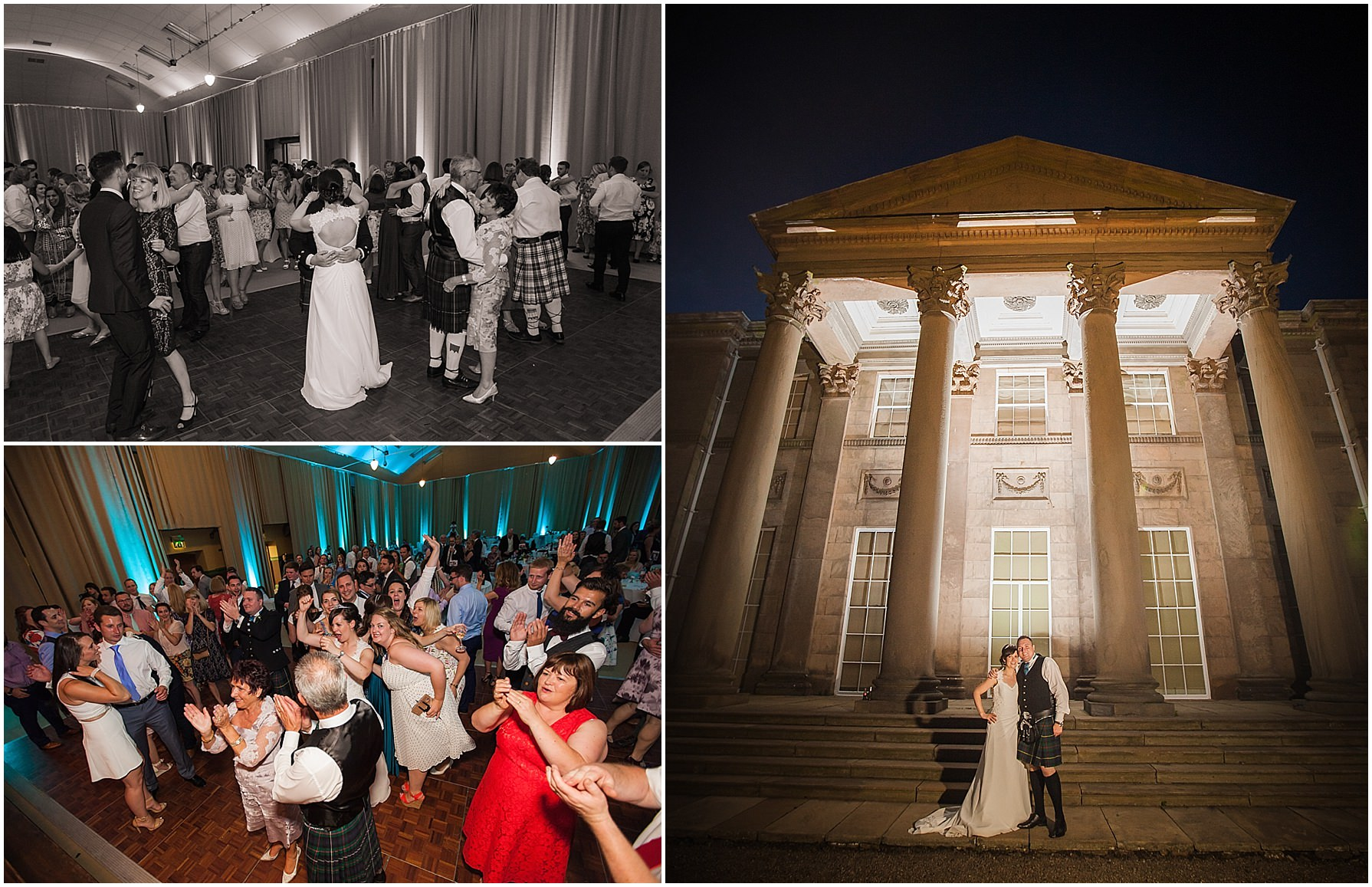 evening reception tatton hall wedding photography