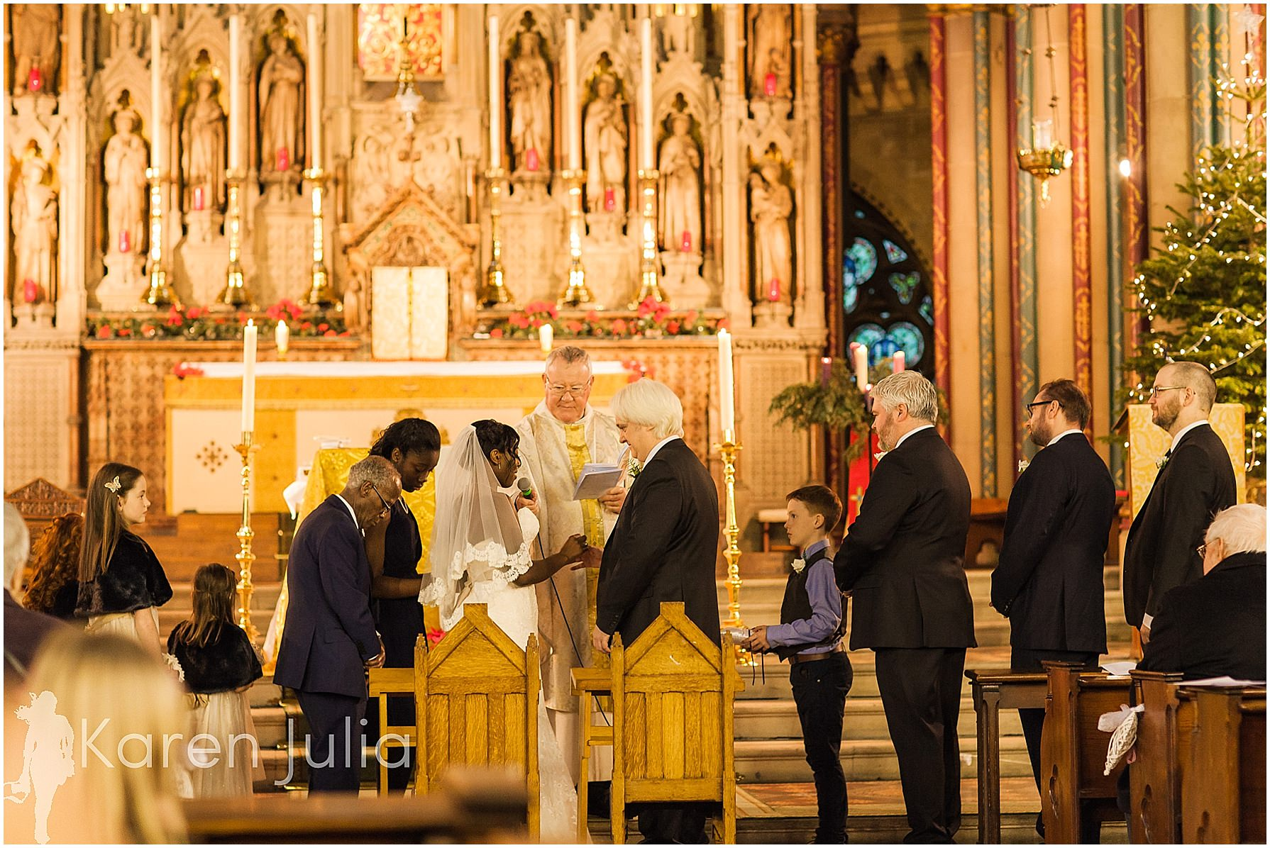 wedding ceremony at holy name church