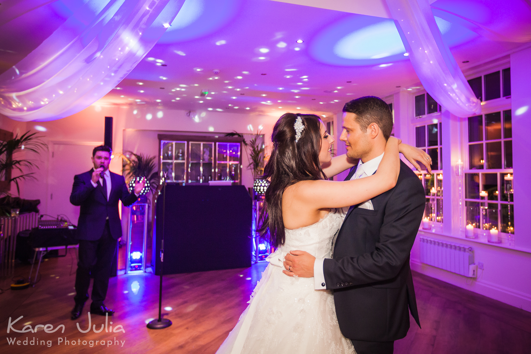 bride and groom first dance mutton hall