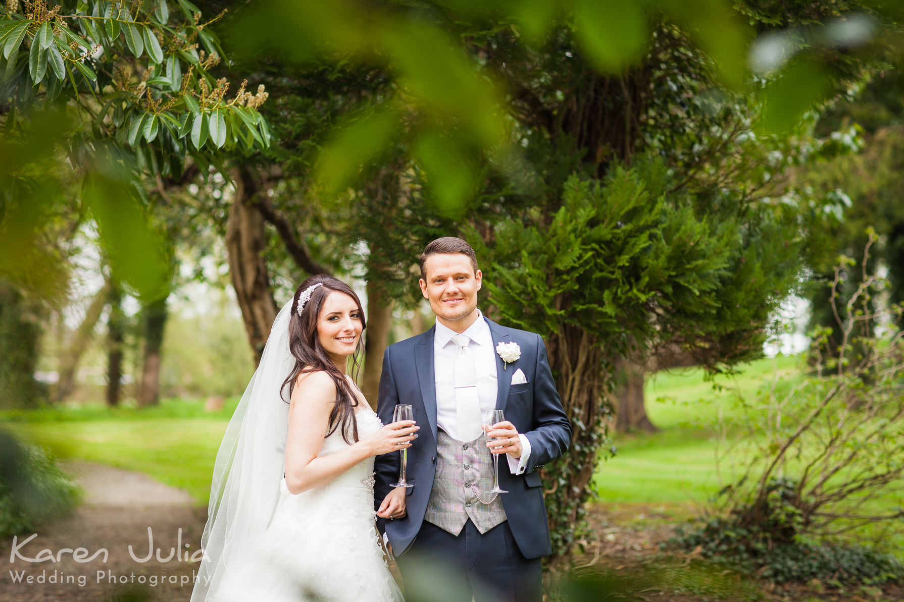 Mitton Hall mint green and silver wedding